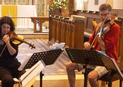 Divertimento Quartet rehearsing in Topsham