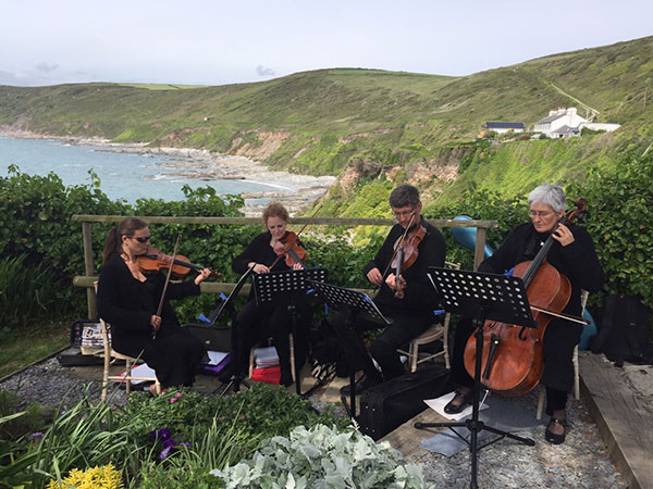 Rosewood String Quartet playing at Polhawn Fort