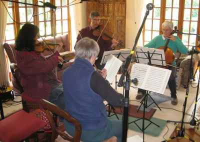 The Quartet making a recording